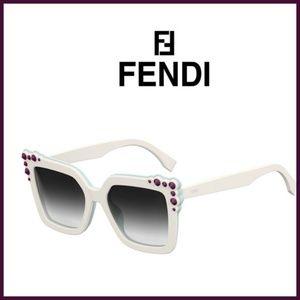 "Fendi white 0260 ""Can Eye"" plastic sunglasses"